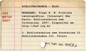 Fichinha catalográfica