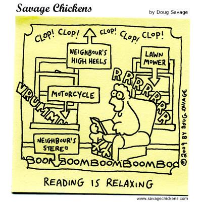 chickenreadingnoise