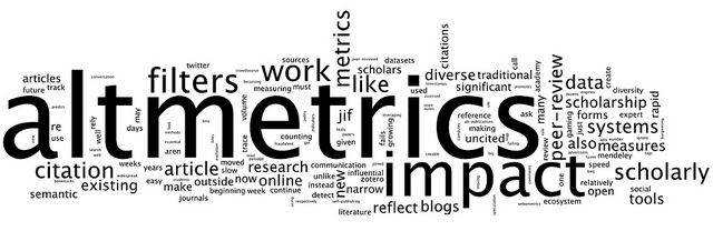 altmetrics.org/manifesto/ via www.wordle.net by AJ Cann