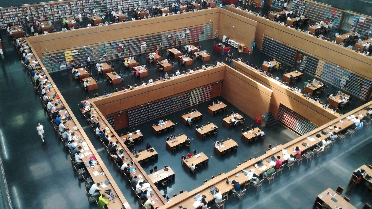 Visitando a Biblioteca Nacional da China